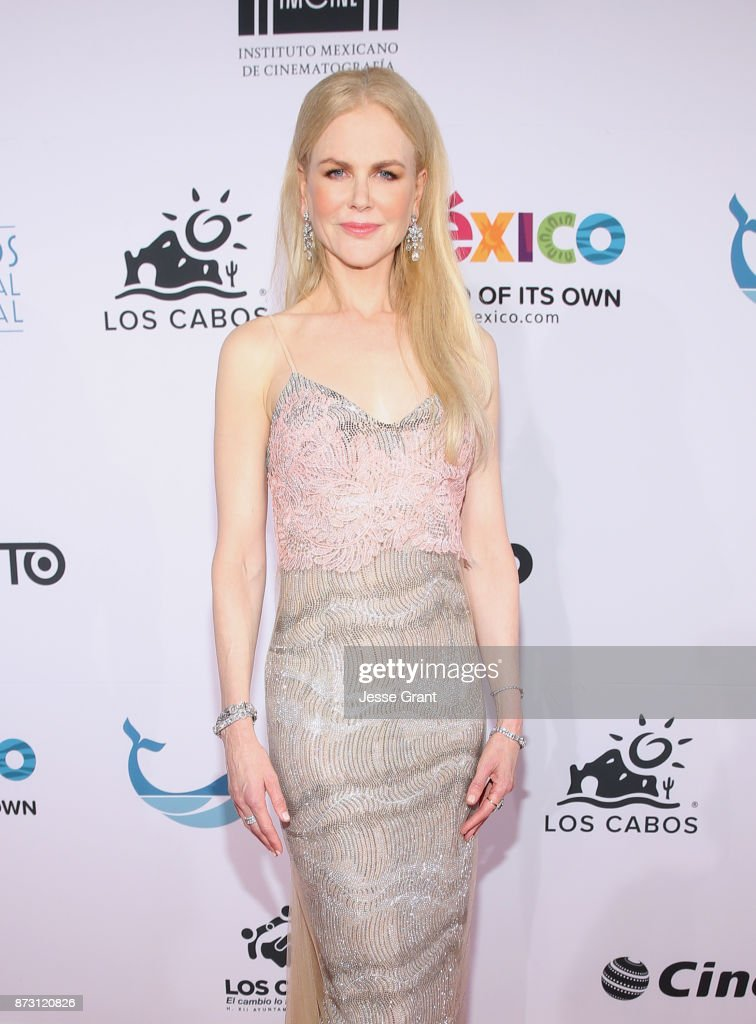 Nicole Kidman is honored at the 6th Los Cabos International Film Festival on November 11, 2017 in Cabo San Lucas, Mexico. Oscar Award-Winning actress presents her film, 'The Killing of a Sacred Deer' and is honored on the closing night of the festival in Cabo San Lucas, Mexico.