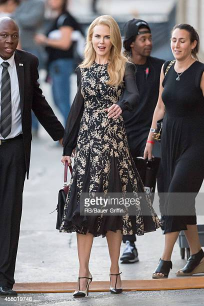 Nicole Kidman is seen at 'Jimmy Kimmel Live' on October 28 2014 in Los Angeles California