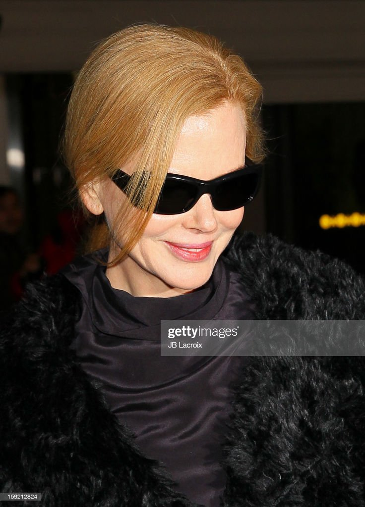 <a gi-track='captionPersonalityLinkClicked' href=/galleries/search?phrase=Nicole+Kidman&family=editorial&specificpeople=156404 ng-click='$event.stopPropagation()'>Nicole Kidman</a> is seen at LAX Airport on January 9, 2013 in Los Angeles, California.