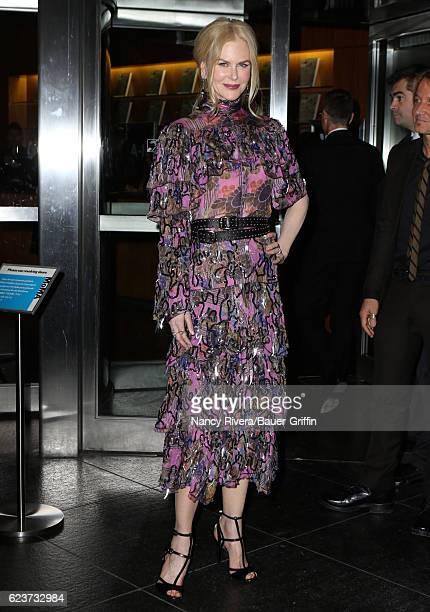Nicole Kidman is seen on November 16 2016 in New York City
