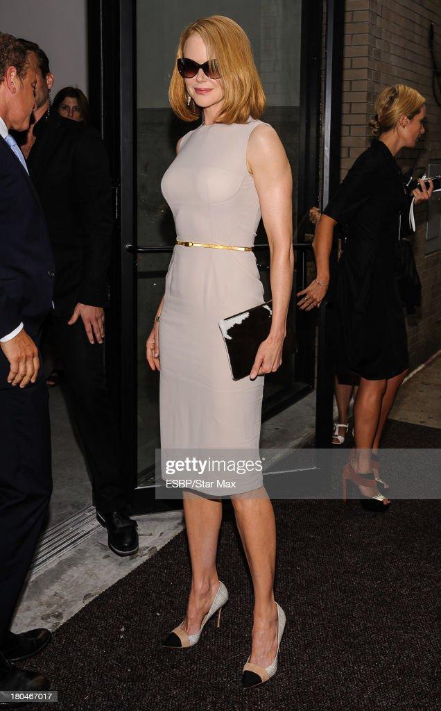 Nicole Kidman is seen on September 12, 2013 in New York City.