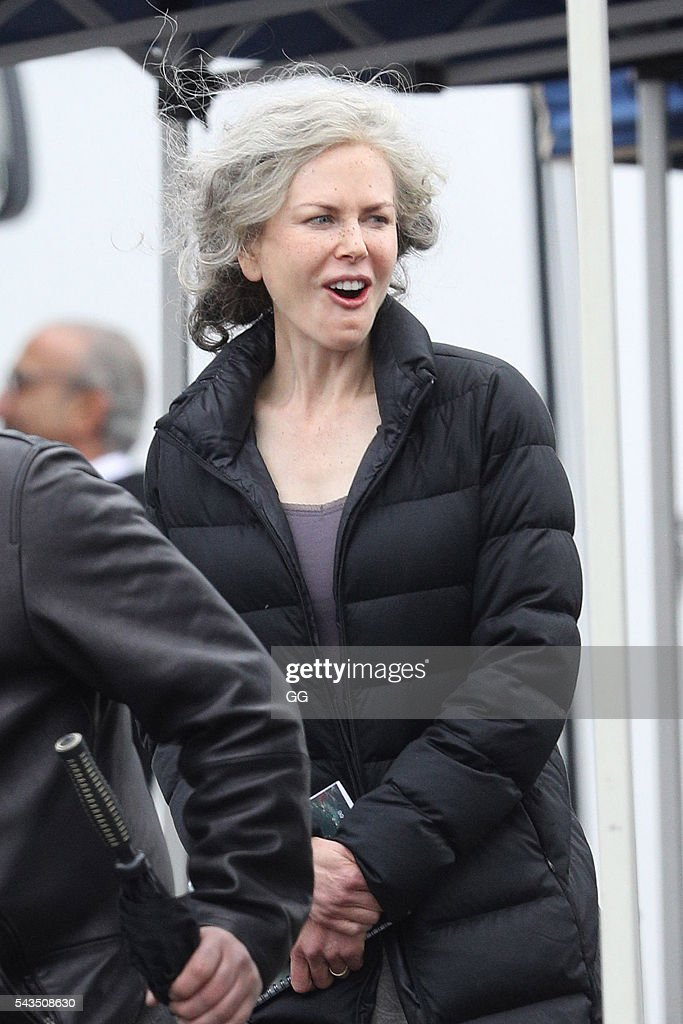 <a gi-track='captionPersonalityLinkClicked' href=/galleries/search?phrase=Nicole+Kidman&family=editorial&specificpeople=156404 ng-click='$event.stopPropagation()'>Nicole Kidman</a> is seen on the set of her new TV series 'Top of The Lake' on June 27, 2016 in Sydney, Australia.