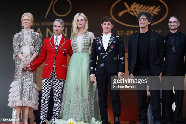 Nicole Kidman John Cameron Mitchell Elle Fanning Alex Sharp Neil Gaiman and guest depart after the 'How To Talk To Girls At Parties' screening during...