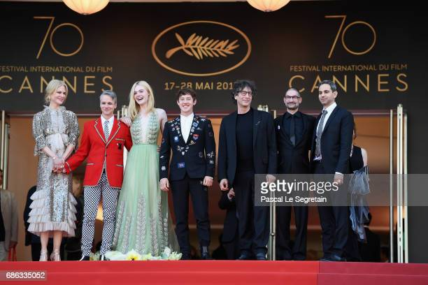 Nicole Kidman John Cameron Mitchell Elle Fanning Alex Sharp Neil Gaiman guest and Howard Gertler depart after the 'How To Talk To Girls At Parties'...