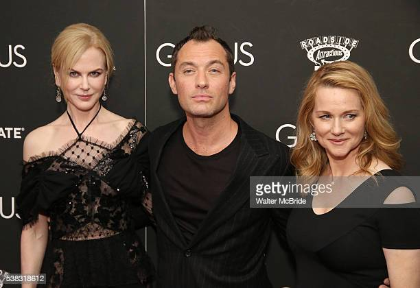 Nicole Kidman Jude Law and Laura Linney attends 'Genius' New York premiere at Museum of Modern Art on June 5 2016 in New York City