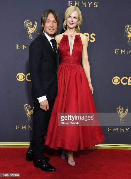 Nicole Kidman Keith Urban arrives at the 69th Annual Primetime Emmy Awards at Microsoft Theater on September 17 2017 in Los Angeles California
