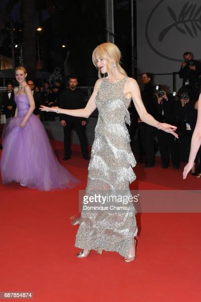 Nicole Kidman leaves the 'The Beguiled' screening during the 70th annual Cannes Film Festival at Palais des Festivals on May 24 2017 in Cannes France