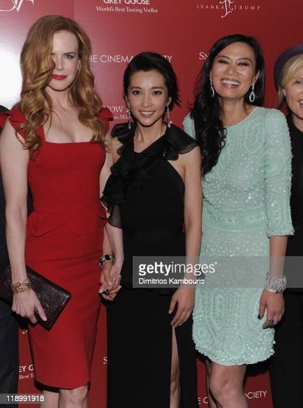 Nicole Kidman Li Bingbing and Producer Wendi Murdoch attend the Cinema Society with Ivanka Trump Jewelry Diane Von Furstenberg screening of 'Snow...