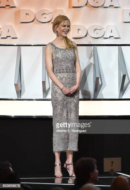 Nicole Kidman onstage during the 69th Annual Directors Guild of America Awards at The Beverly Hilton Hotel on February 4 2017 in Beverly Hills...