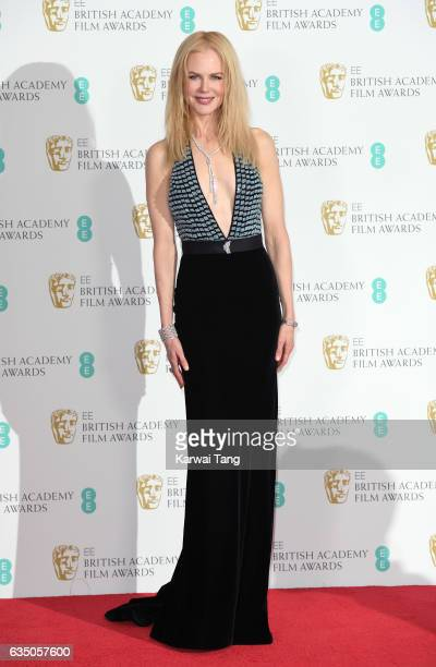 Nicole Kidman poses in the winners room at the 70th EE British Academy Film Awards at the Royal Albert Hall on February 12 2017 in London England