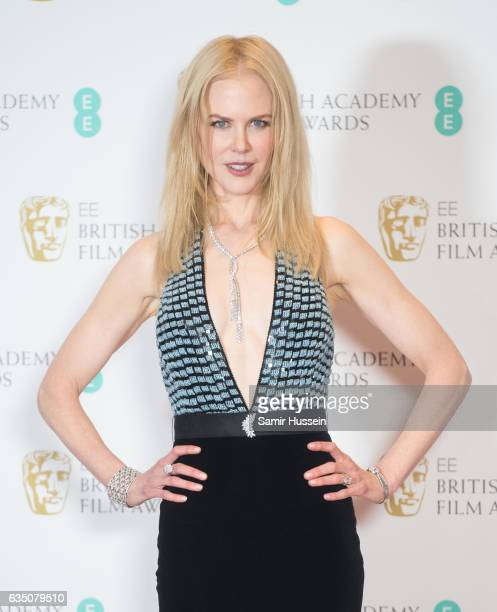 Nicole Kidman poses in the winners room at the 70th EE British Academy Film Awards at Royal Albert Hall on February 12 2017 in London England