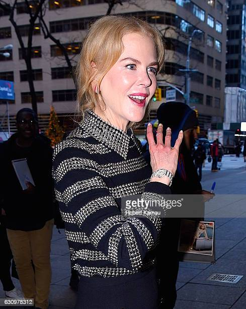 Nicole Kidman seen out in Manhattan on January 4 2017 in New York City