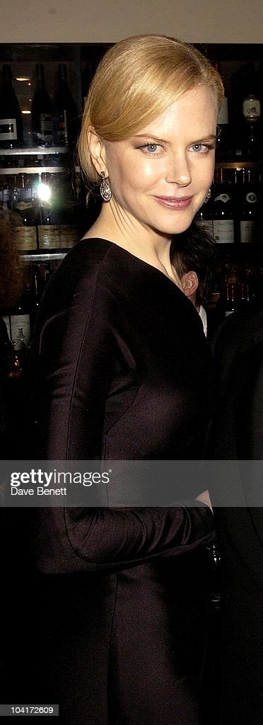 Nicole Kidman, 'The Hours' Uk Charity Movie Premiere After Party Held At The Bluebird Restaurant In London.