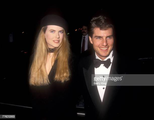 Nicole Kidman Tom Cruise at the Golden Globe Awards on January 23 1993