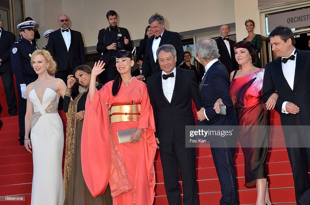 Nicole Kidman, Vidya Balan, Naomi Kawase, Ang Lee, Steven Spielberg, Lynne Ramsay and Cristian Mungiu and Christoph Waltz attend the Premiere of 'Zulu' and the Closing Ceremony of The 66th Annual Cannes Film Festival at Palais des Festivals on May 26, 2013 in Cannes, France.