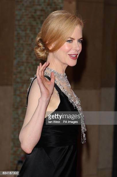 Nicole Kidman wearing a Balenciaga dress accented with L'Wren Scott necklacearrives for the 80th Academy Awards at the Kodak Theatre Los Angeles