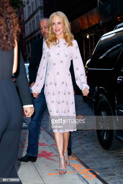 Nicole Kidman wears all pink on October 21 2017 in New York City