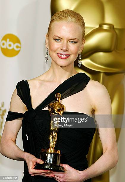 Nicole Kidman winner for Best Actress in 'The Hours' at the The Kodak Theater in Hollywood California