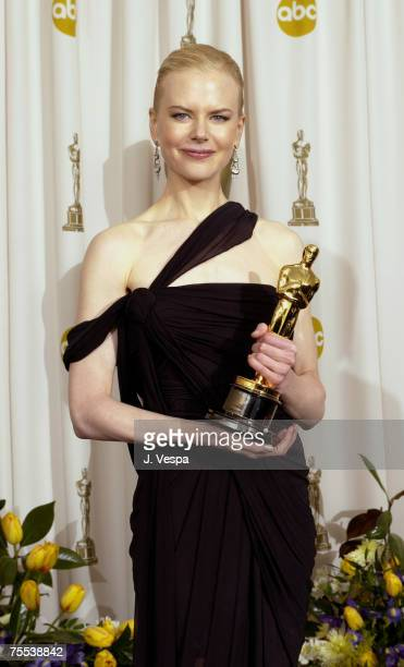Nicole Kidman winner of Best Actress Oscar for 'The Hours' at the The Kodak Theater in Hollywood California
