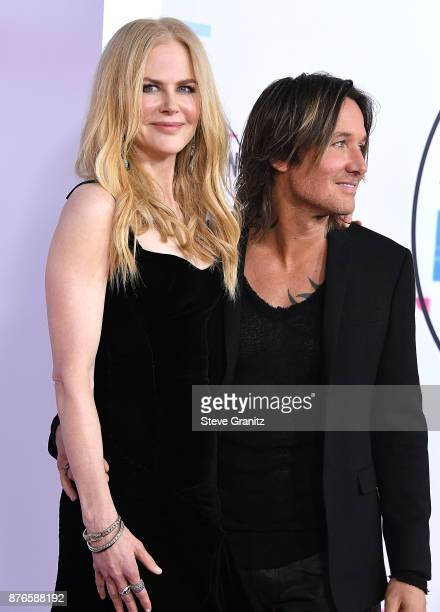 Nicole KidmanKeith Urban arrives at the 2017 American Music Awards at Microsoft Theater on November 19 2017 in Los Angeles California