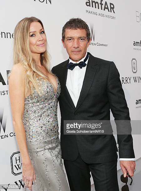 Nicole Kimpel and Actor Antonio Banderas attend amfAR's 22nd Cinema Against AIDS Gala Presented By Bold Films And Harry Winston at Hotel du...