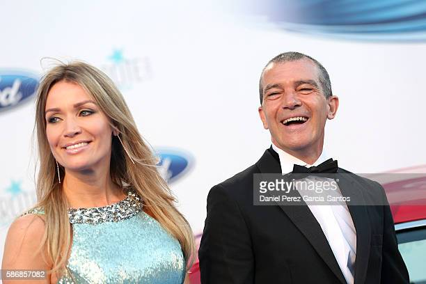 Nicole Kimpel and Antonio Banderas attend Starlite Gala on August 6 2016 in Marbella Spain