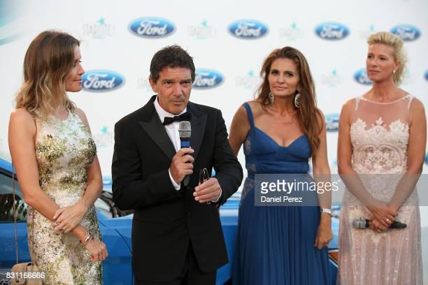 Nicole Kimpel Antonio Banderas Sandra GarciaSanjuan and Anne Igartiburu attend Starlite Gala on August 13 2017 in Marbella Spain