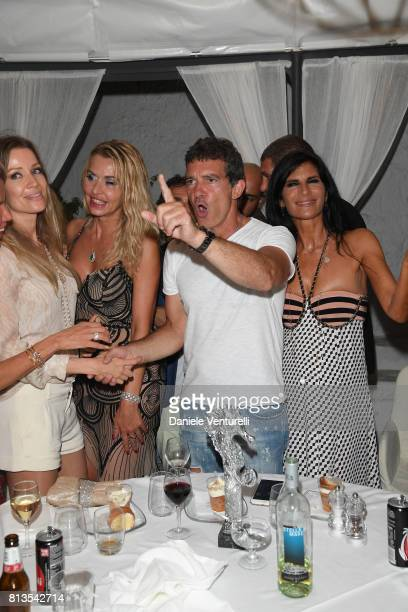 Nicole Kempel Valeria Marini Antonio Banderas and Pamela Prati attend 2017 Ischia Global Film Music Fest on July 12 2017 in Ischia Italy