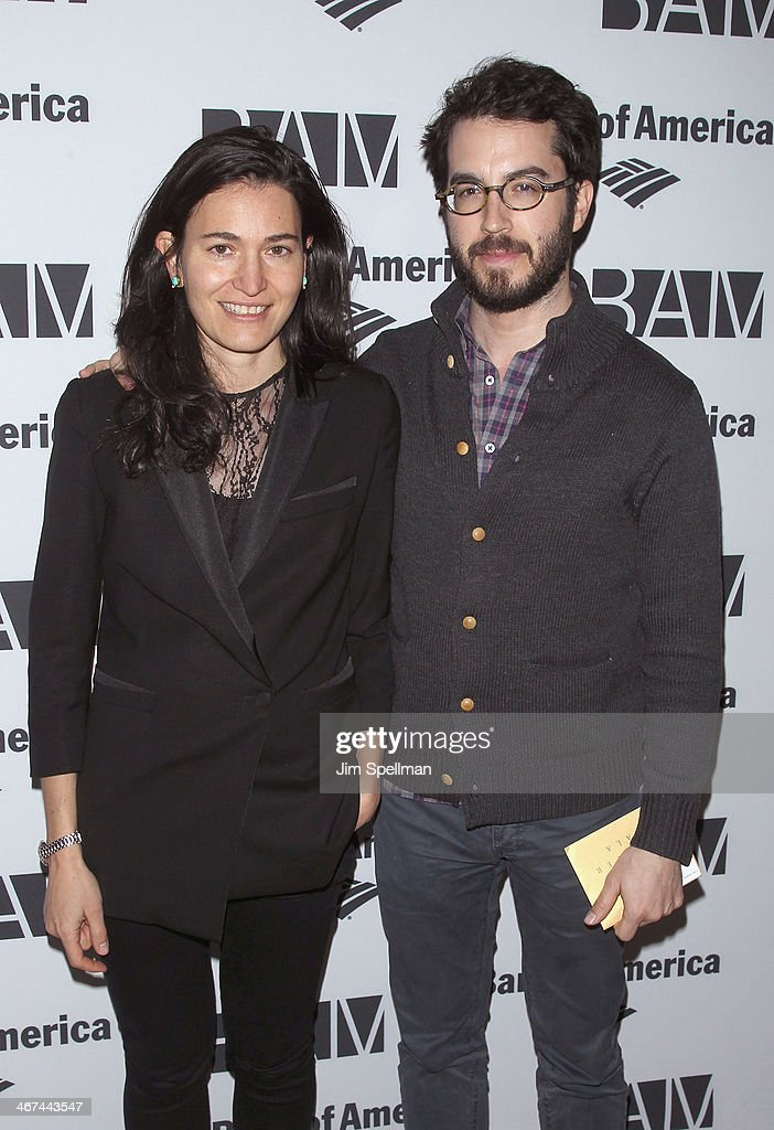 Nicole Krauss and Jonathan Safran Foer attend the 2014 BAM Theater gala at Skylight One Hanson on February 6, 2014 in the Brooklyn borough of New York City.