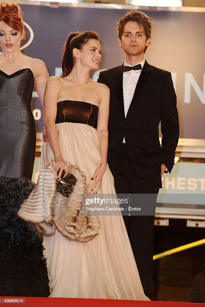Nicole LaLiberte, Roxane Mesquida and Thomas Dekker at the premiere of 'Kaboom' during the 63rd Cannes International Film Festival.