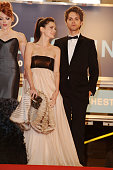 Nicole LaLiberte Roxane Mesquida and Thomas Dekker at the premiere of 'Kaboom' during the 63rd Cannes International Film Festival
