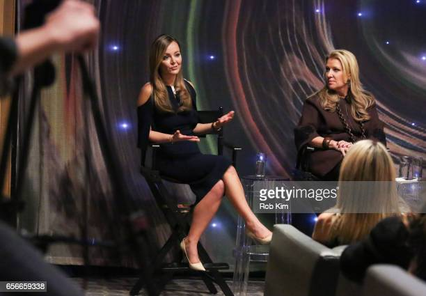 Nicole Lapin and Mindy Grossman attend the Female Bosses celebration and BOSS BITCH book launch and interactive panel event at The Core Club on March...