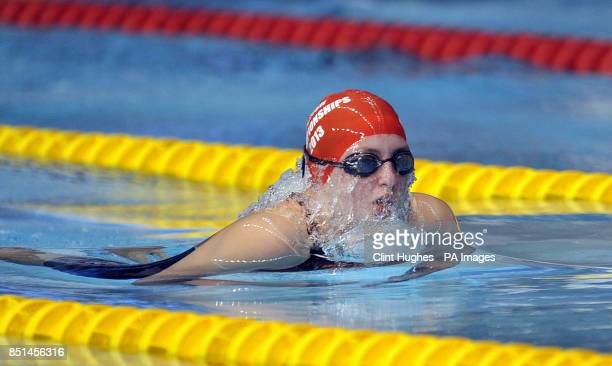 Nicole Lough of City of Sunderland during the Womens MC 100m Breaststroke Final during day four of the British Gas Swimming Championships at Ponds...