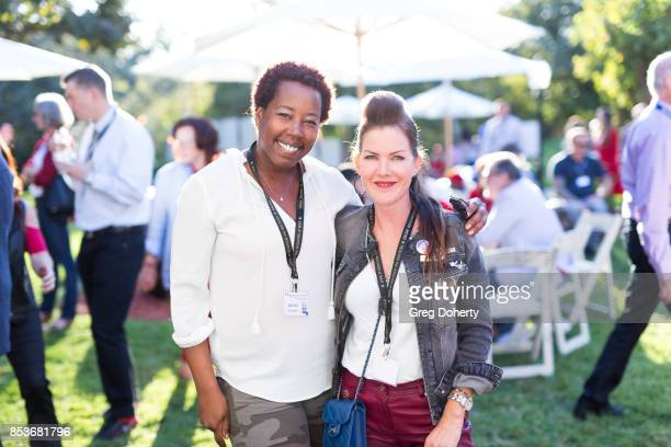 Nicole McClinton and Actress Kira Reed Lorsch attend the UCLA Operation Mend 10 Year Anniversary at the Home of Founder Ron Katz Sponsored by The...