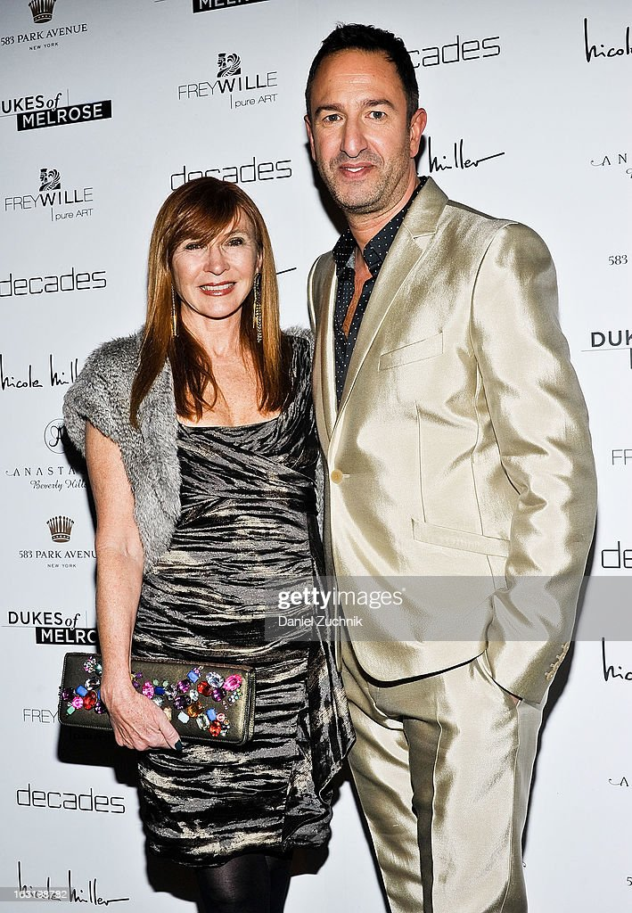 Nicole Miller and Christos Garkinos attend the 'Dukes Of Melrose' Premiere at 583 Park Avenue on March 5, 2013 in New York City.