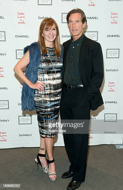 Nicole Miller and Kim Taipale attends 2013 'Take Home A Nude' Benefit Art Auction And Party at Sotheby's on October 8 2013 in New York City