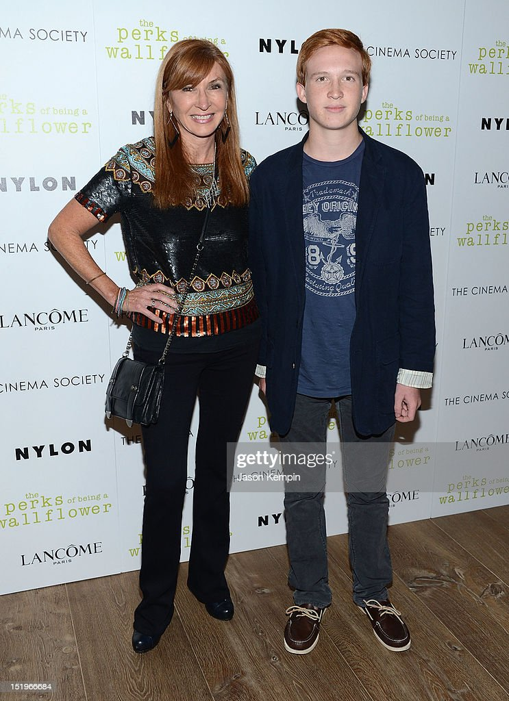 Nicole Miller and Palmer Miller attend The Cinema Society with Lancome & Nylon screening of 'The Perks of Being a Wallflower' at the Crosby Street Hotel on September 13, 2012 in New York City.
