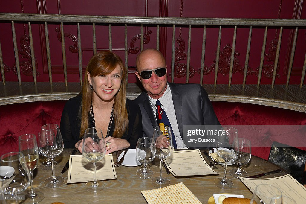 Nicole Miller and <a gi-track='captionPersonalityLinkClicked' href=/galleries/search?phrase=Paul+Shaffer&family=editorial&specificpeople=220311 ng-click='$event.stopPropagation()'>Paul Shaffer</a> attends the DuJour Magazine Spring 2013 Issue Celebration at The Darby on March 27, 2013 in New York City.
