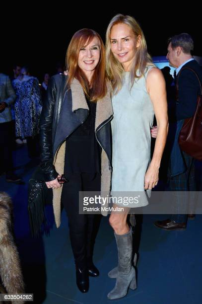 Nicole Miller and Valesca Guerrand Hermes attend The Blue Jacket Fashion Show to Benefit the Prostate Cancer Foundation at Pier 59 Studios on...