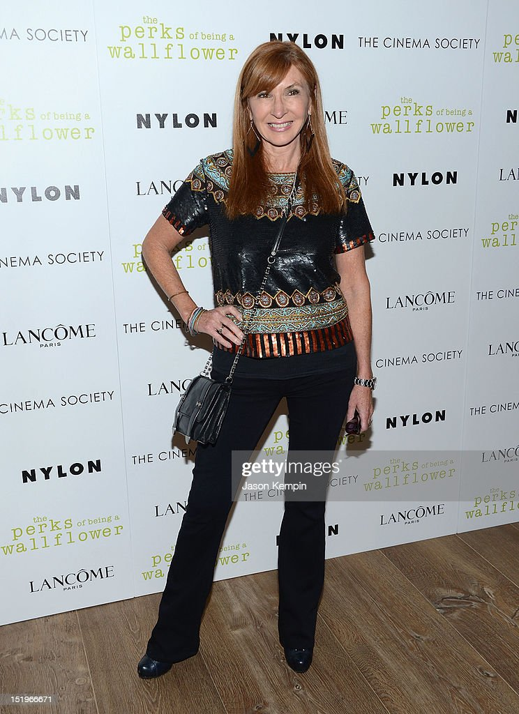 Nicole Miller attends The Cinema Society with Lancome & Nylon screening of 'The Perks of Being a Wallflower' at the Crosby Street Hotel on September 13, 2012 in New York City.