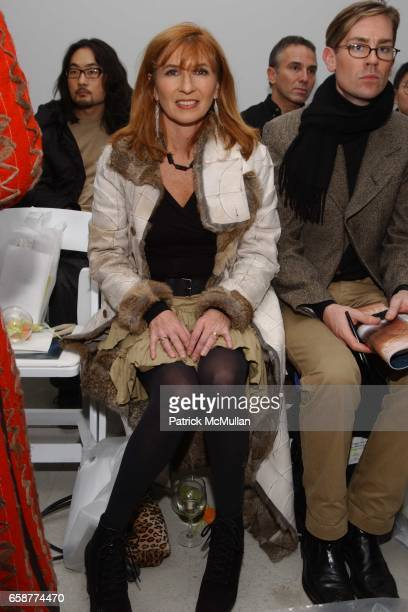 Nicole Miller attends the DooRi Fashion Show Front Row at Mao Space on February 6 2004 in New York City