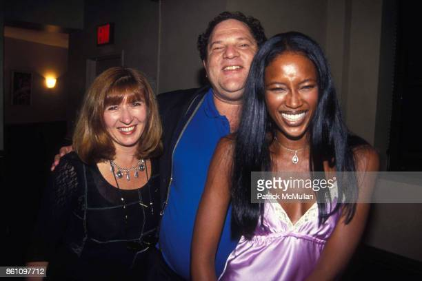 Nicole Miller Harvey Weinstein and Naomi Campbell at A La Mode on August 2 1994 in New York City