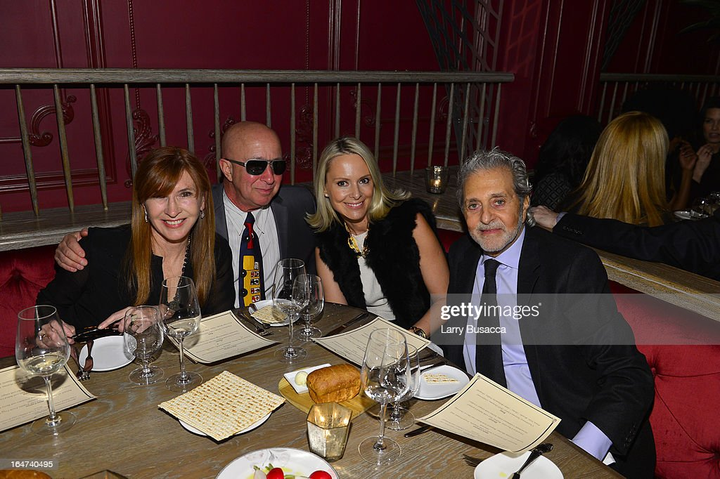Nicole Miller, Paul Shaffer and guests attend the DuJour Magazine Spring 2013 Issue Celebration at The Darby on March 27, 2013 in New York City.