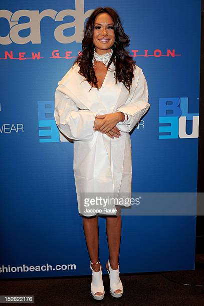 Nicole Minetti attends at the Parah Spring/Summer 2013 fashion show as part of Milan Womenswear Fashion Week on September 23 2012 in Milan Italy