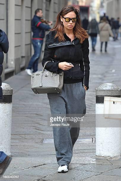 Nicole Minetti is seen on January 25 2013 in Milan Italy