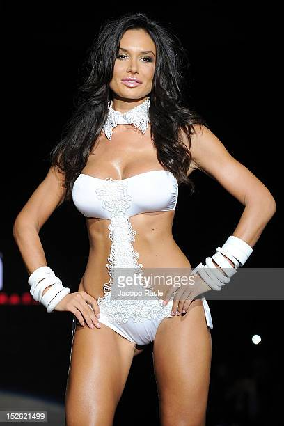 Nicole Minetti walks the runway at the Parah Spring/Summer 2013 fashion show as part of Milan Womenswear Fashion Week on September 23 2012 in Milan...