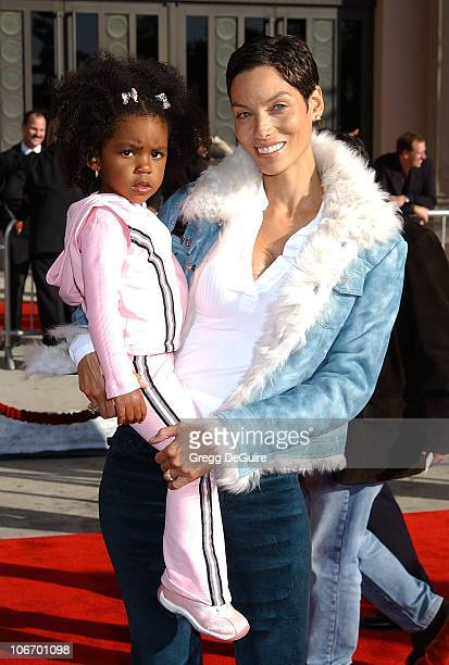Nicole Mitchell Murphy daughter Zola during 20th Anniversary Premiere of Steven Spielberg's 'ET The ExtraTerrestrial' Red Carpet at Shrine Auditorium...