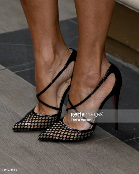 Nicole Mitchell Murphy fashion detail attends The Associates for Breast and Prostate Cancer Studies annual Mother's Day Luncheon at Four Seasons...
