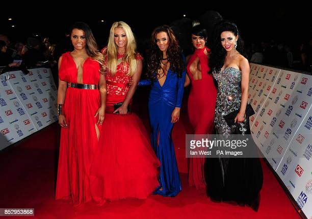 Nicole Morris Carley Belmonte Natalee Harris Lateysha Grace and Jenna Jonathon of The Valleys attend the National Television Awards at 02 Arena on...