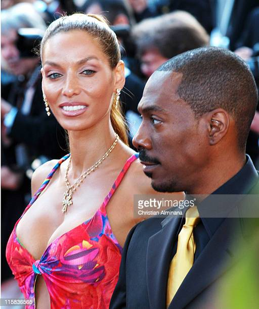 Nicole Murphy and Eddie Murphy during 2004 Cannes Film Festival 'Shrek 2' Premiere at Palais Du Festival in Cannes France